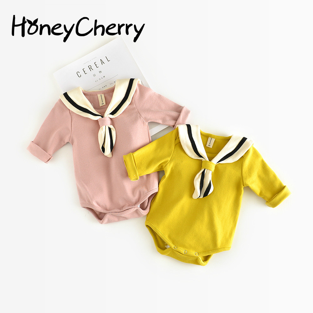 2017 New Arrival Honeycherry Fashion Baby Girls Solid Full O-neck Fits True To Size, Take Your Normal Size Bodysuits ...