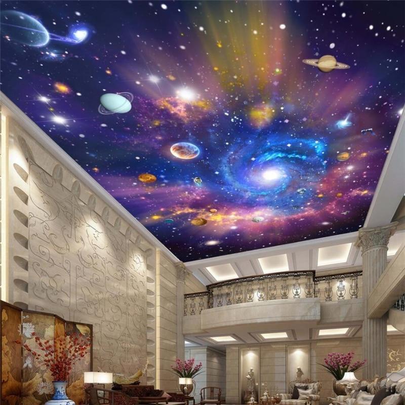 Beibehang Benutzerdefinierte Tapete Dekoration Wandmalereien Vast Universum Galaxy Traum Wohnzimmer Decke Malerei 3d Wallpaper Foto