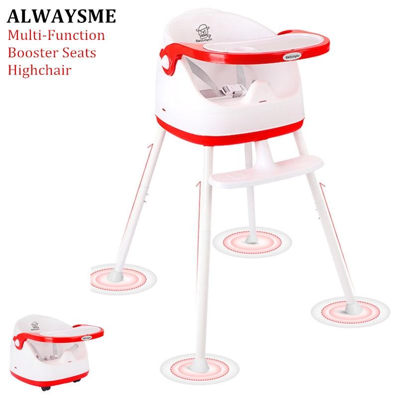 ALWAYSME Baby Kids Children Highchairs Booster Seats Baby Dinner Chair Baby Feeding Chairs