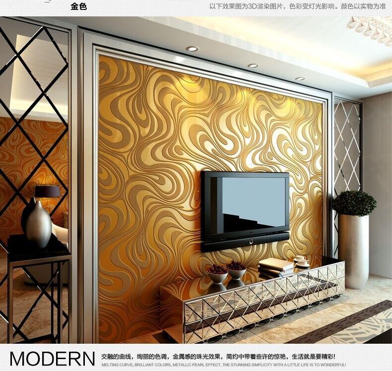 ФОТО Q QIHANG Modern simple  3D Non-woven Wallpapers Living Room TV Background Wallpaper 0.7m*8.4m=5.88m2