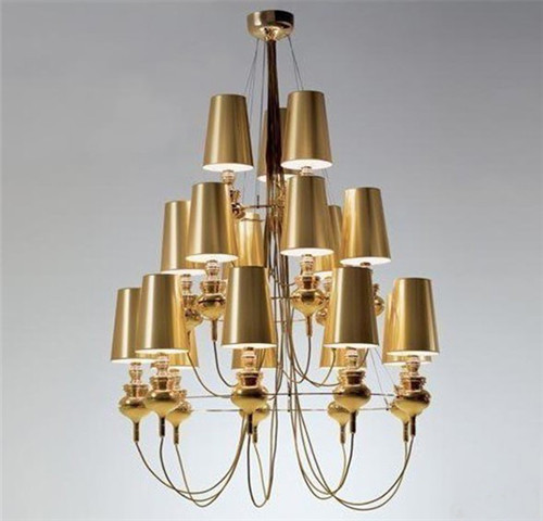 Modern Classic 18 Heads Chandelier Light Living Room Gold Staircase Hotel Dining Suspension Lights