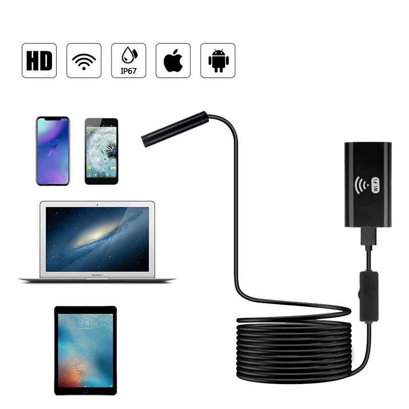 Drahtlose Wifi Endoskop Iphone Android Usb Typ, Inspektion Kamera Visualizer Mini Sicherheit Kamera Sehr Flexible Ip67 Wasserdicht