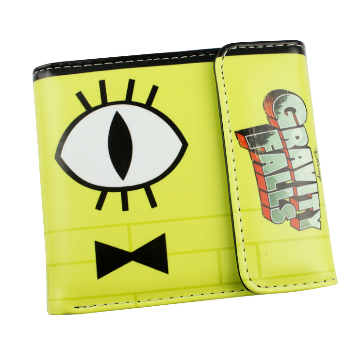 anime Gravity Falls Bill Dipper wallet cartoon Purse for Young People mens women purse male female coin purses holders wallet anime cartoon wallets bifold game pokemon go pikachu wallet for teenager women men pocket monster purse coin purses holders