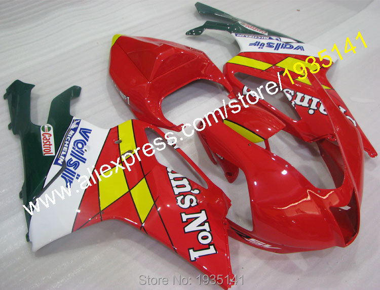 Hot Sales,Castrol parts For Aprilia RSV1000 fairings 03 04 05 06 RSV 1000 Motorbike Cowling 2003 2004 2005 2006 Bodyworks Kit