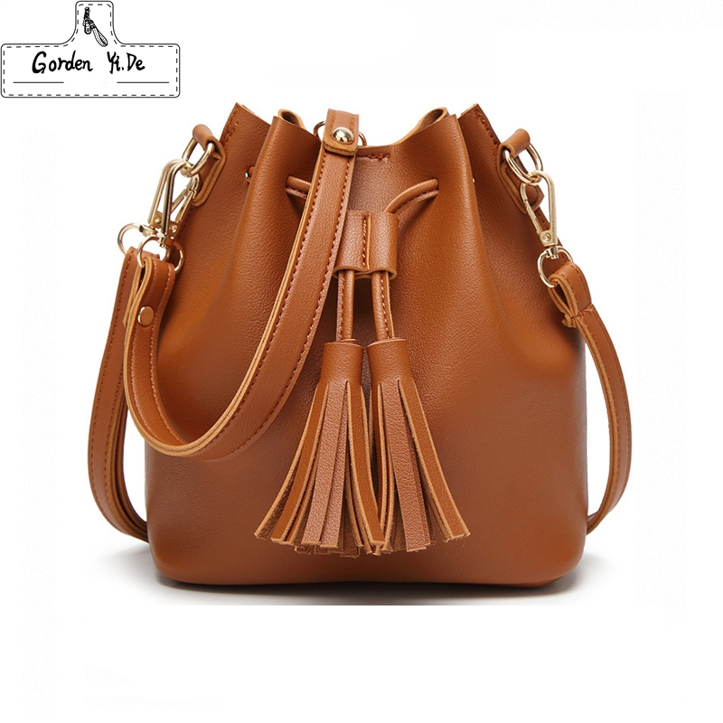 Shoulder Bags Women's Bags Just Women Handbags Fashion Solid Color Weave Tassels Shoulder Bag High Quality Messenger Bag Ladies Beach Bucket Bags Bolso Mujer 100% High Quality Materials