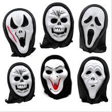 Máscara de halloween Del diablo terrorista cara gritando cabeza fantasía miedo anfitrión esqueleto máscara apoyos juguetes de Los Niños