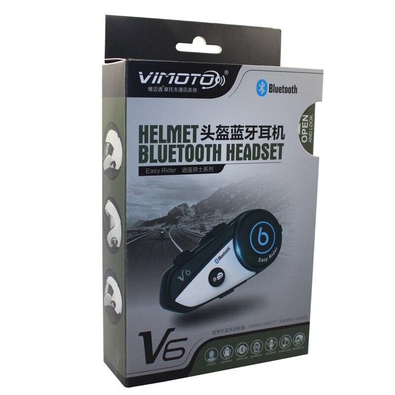 Version anglaise 2 pcs/lot casque moto Vimoto V6 casque Bluetooth stéréo casque Multipoint connexion BT Interphone - 6