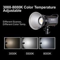 Falcon Eyes LED Studio Fill Light 60W Bi color 3000K 8000K Adjustable Photo Lighting With Bowen Bayonet & Reflector Handle