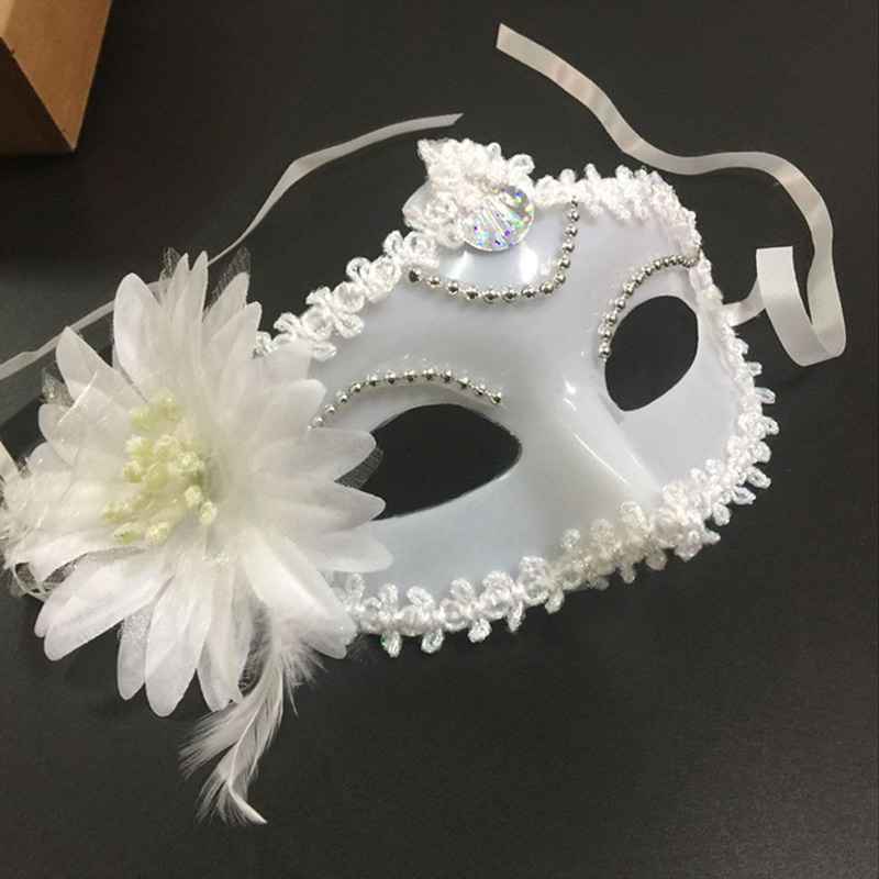 Newly Sexy Women Masquerade Plastic Flower Mask For Festival Party Prom Mardi Gras