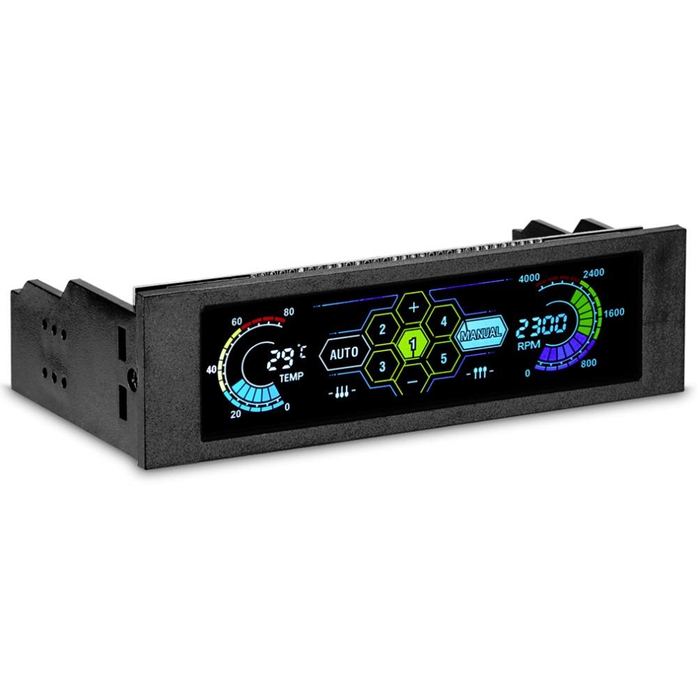 """Prix pour STW 5036 5.25 """"Drive Bay PC Ordinateur CPU De Refroidissement Panneau Avant LCD Température Contrôleur Contrôle la Vitesse Du Ventilateur pour ordinateur de Bureau"""