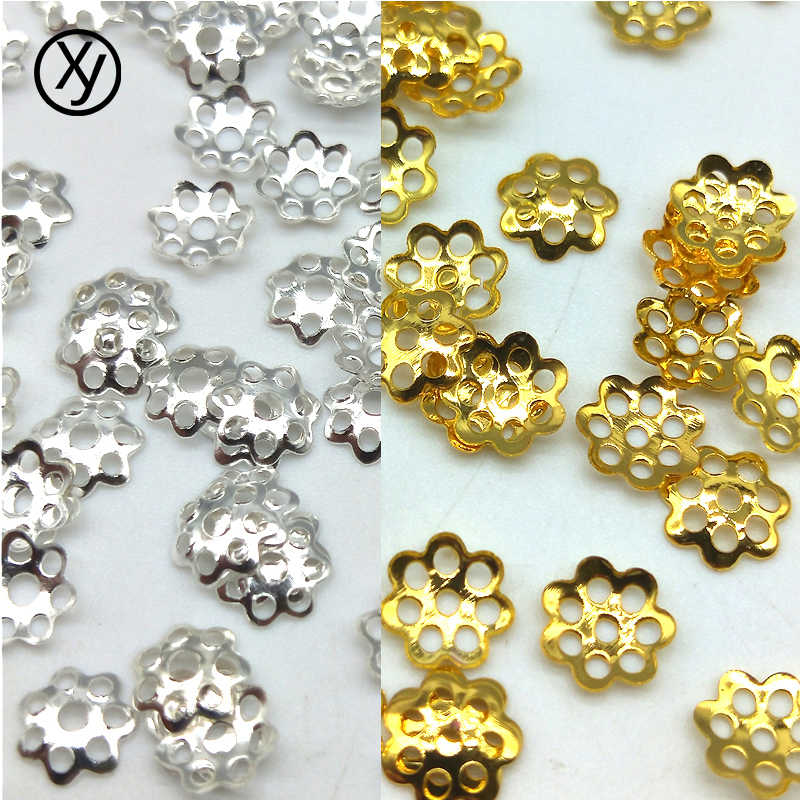DIY 6mm 100pcs  Jewelry Findings Flower Hat Isolation Jewelry Beads Jewelry Accessories for Necklace Accessories Wholesale