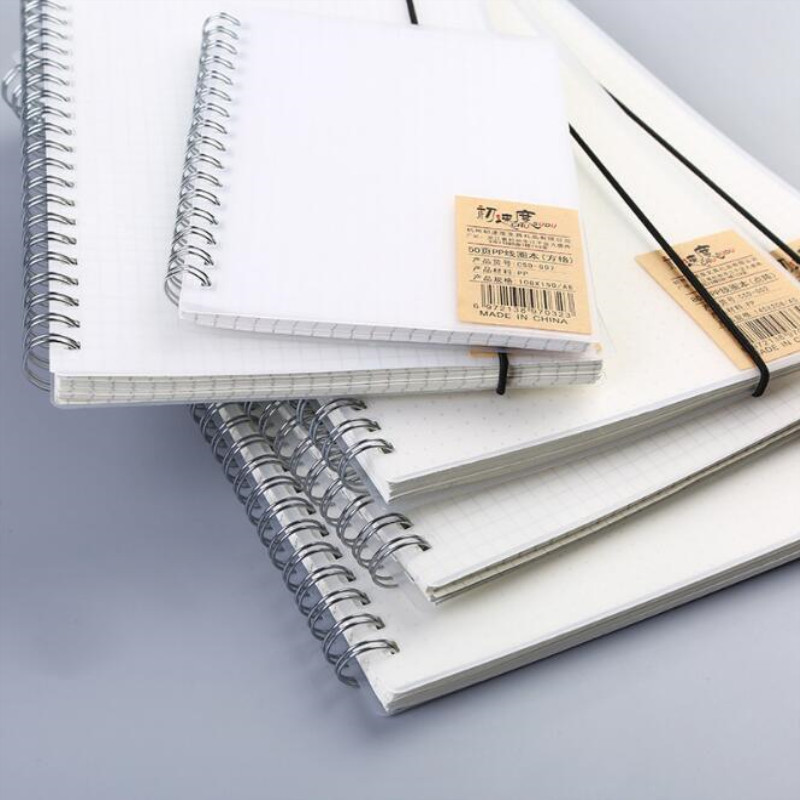 50/80 Pages Spiral Notebook A4/A5/A6/B5 Frosted Student Notebook Business Loose-leaf Notebook Office And School Supplies