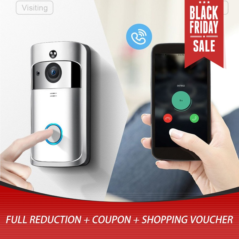 M3 Night Vision WIFI Smart Video Doorbell Wireless Portable Home Door Bell Cordless Phone Intercom Smart Home Parts