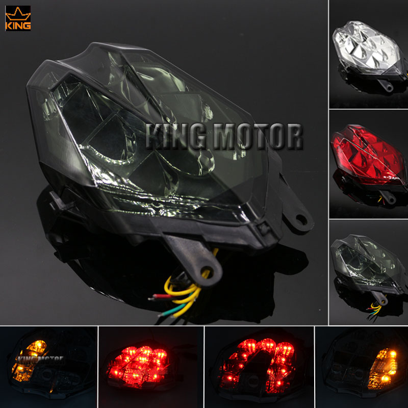 For Triumph Daytona 675/R / Speed Triple 675 2013-2016 Motorbike Integrated LED Tail Light Turn signal Blinker Lamp Smoke motorcycler accessories integrated led tail light turn signal blinker for suzuki boulevard m109r le vzr1800z 2007 2008