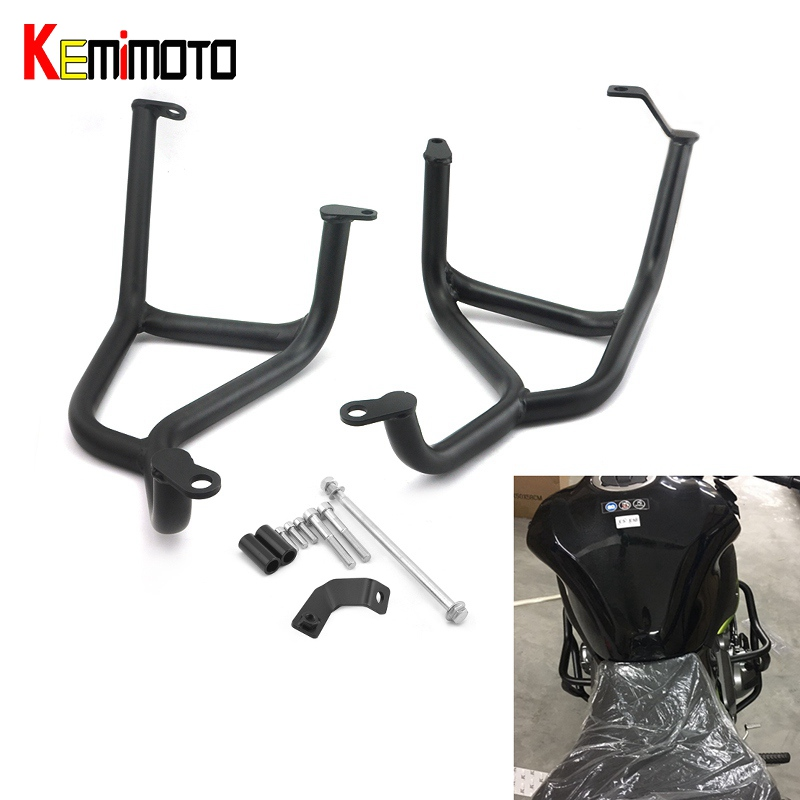 KEMiMOTO Z900 2017 Z 900 Crash Bar For Kawasaki Z900 2017 Motorcycle Accessories Z900 2017 Engine Guard Frame Protection Moto kemimoto radiator guard for kawasaki z900 2017 radiator grill protector for kawasaki z 900 2017 moto motocycle parts accessories