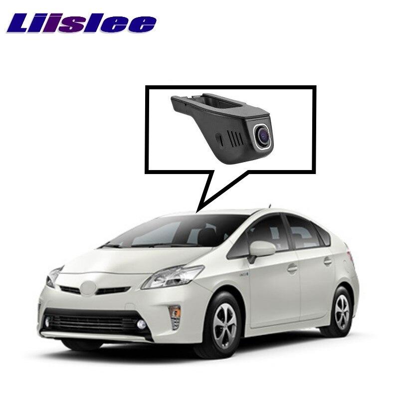 Enregistreur vidéo de conduite de caméra de tableau de bord de WiFi DVR d'enregistrement de route de voiture de LiisLee pour TOYOTA Prius XW50 2015 ~ 2017