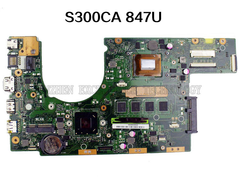 Original for Asus S300CA Laptop Motherboard Intel 847U S300CA REV2.0 mainboard Fully tested & free shipping