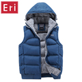 Mens Jacket Sleeveless Vests Winter New Fashion Casual Coats Brand Hooded Cotton-Padded Men's Vest Men Thickening Waistcoat X356