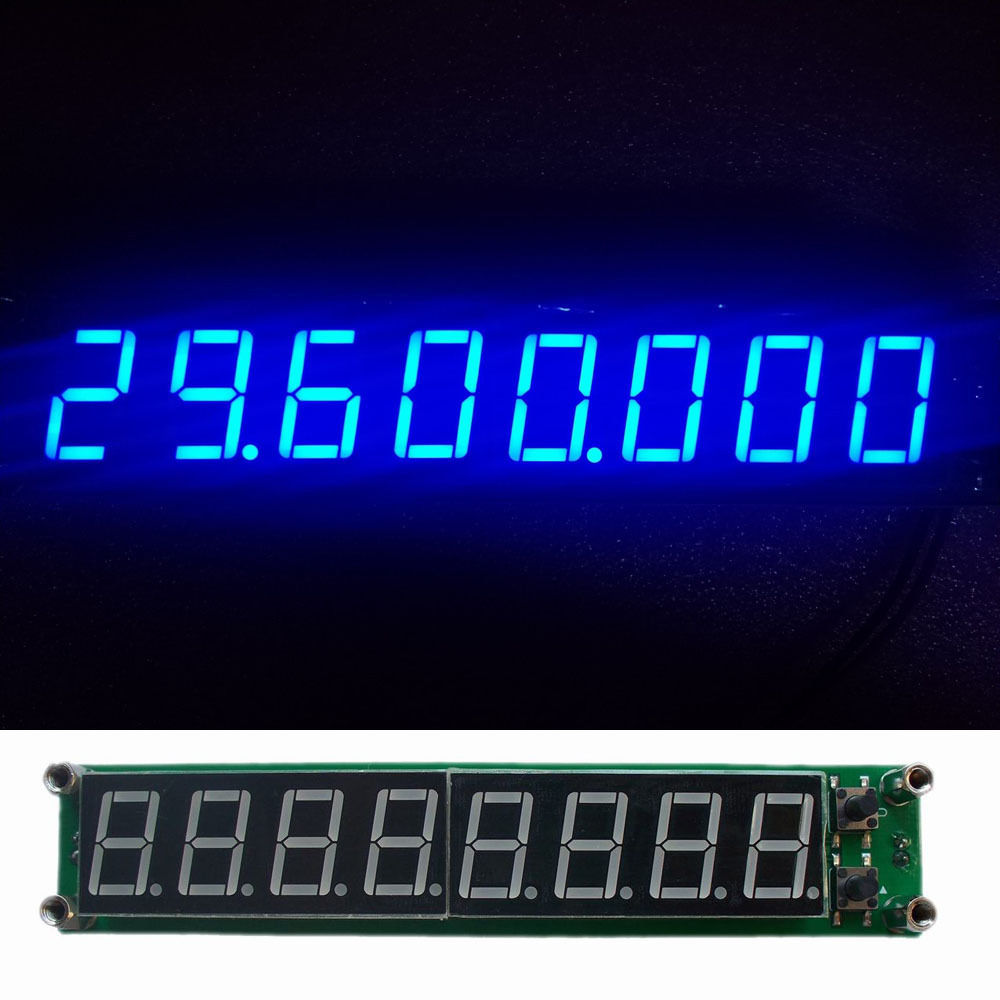 0.1-60MHz 20MHz~ 2.4GHz RF Singal Frequency Counter Tester 8 LED Meter Measurement Module FOR Ham Radio Amplifier