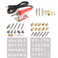 37pcs Wood Burning Pen Set Welding Tips Stencil Set Soldering Iron Carving Tools For DIY Hobby