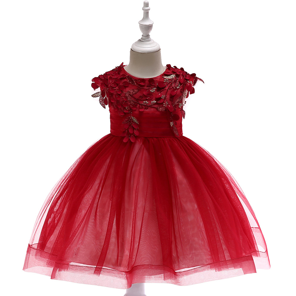 Amazing Ball Gown   Girls   Pageant   Dresses   lace applique   Flower     Girl     Dress   for Wedding Party 2019