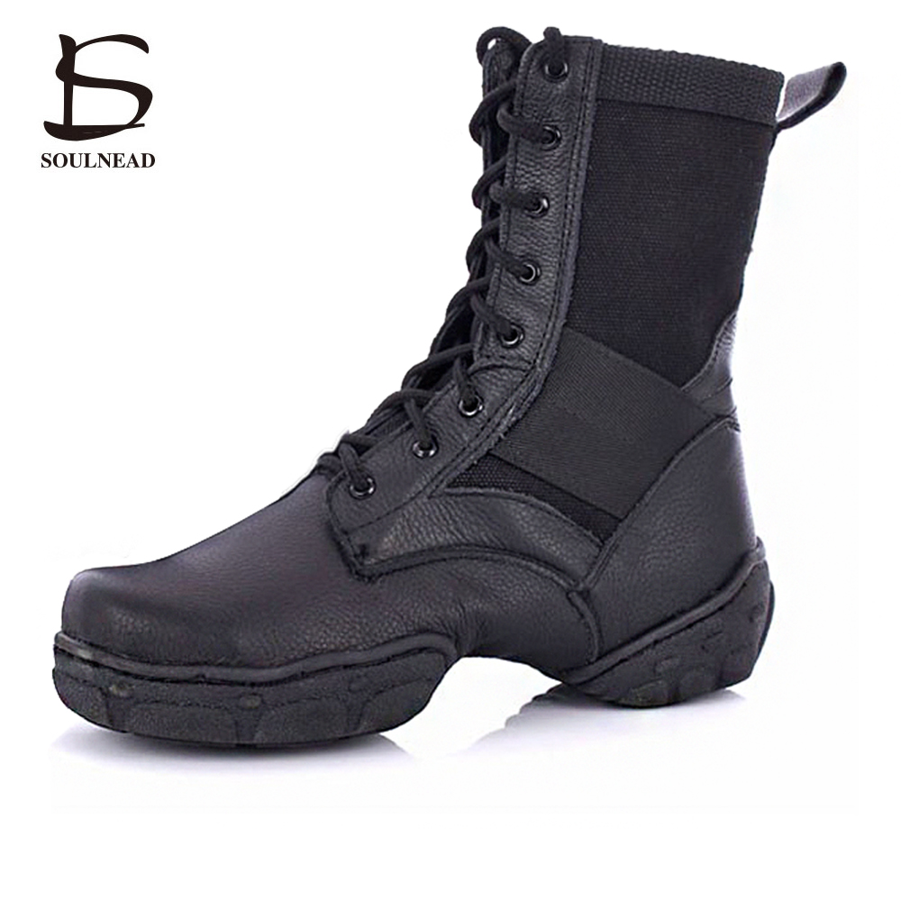 2017 Hot sale PU Leather Jazz Dance Shoes Lace up High Boots for Adult Woman Black Jazz Boots Sneaker Practice women shoes casual bowknot lace up jazz hat
