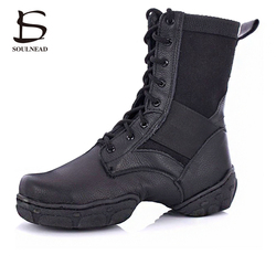 2017 hot sale pu leather jazz dance shoes lace up high boots for adult woman black.jpg 250x250