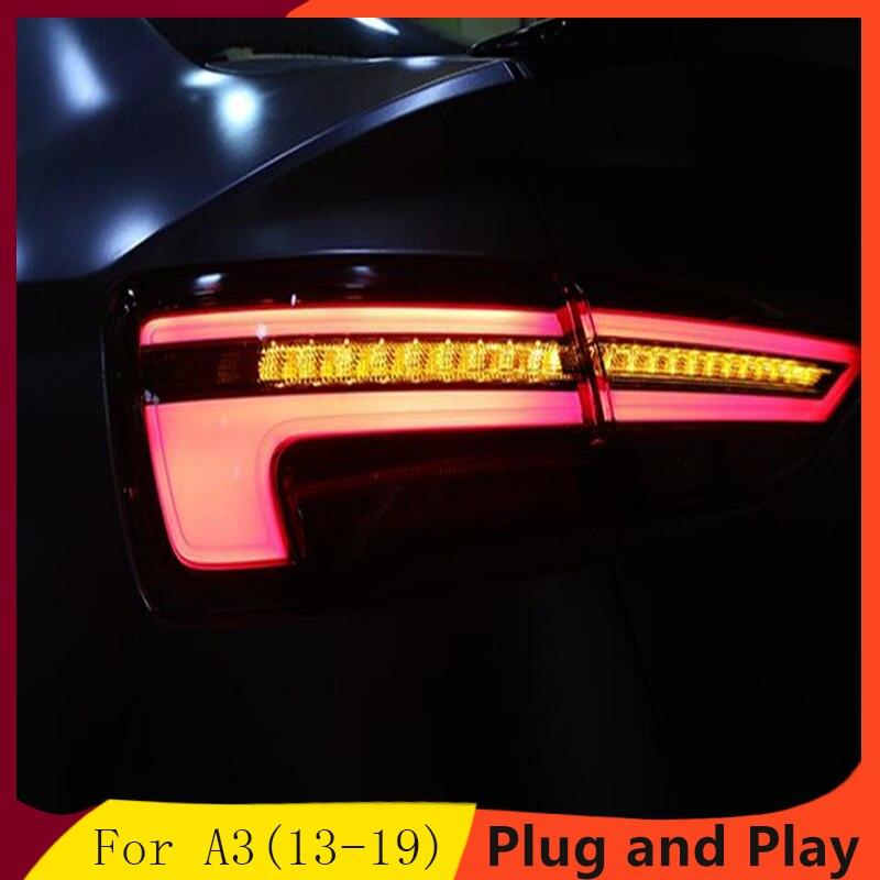 Car Styling for AUDI A3 Tail Lights 2013 2019 Audi a3 LED Tail Light LED Rear