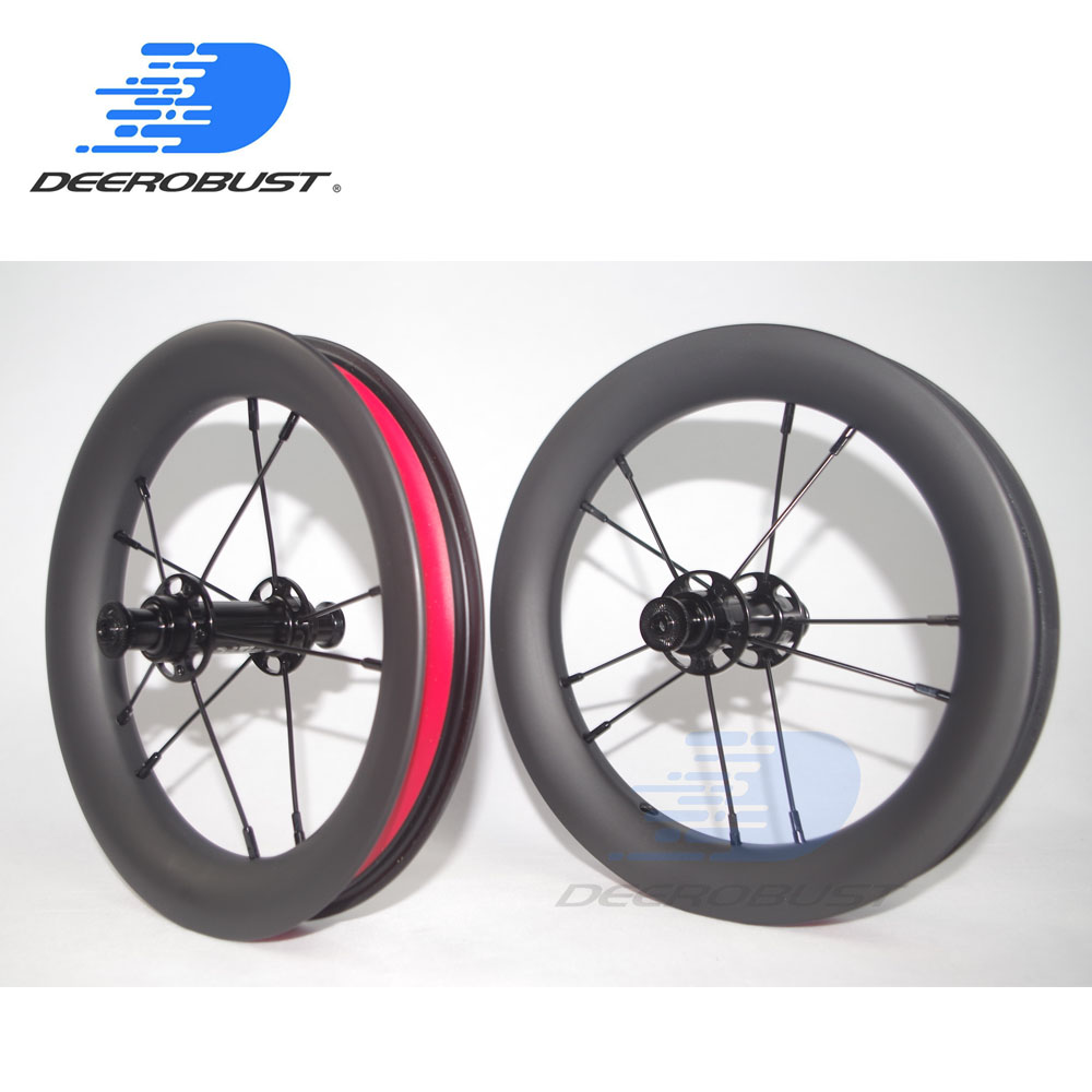 380g 12inch 203 25mm x 30mm Tubeless Clincher Balance Bike Carbon Wheels 12 Kids Bicycle strider/Kokua/Puky NBK Bearings380g 12inch 203 25mm x 30mm Tubeless Clincher Balance Bike Carbon Wheels 12 Kids Bicycle strider/Kokua/Puky NBK Bearings