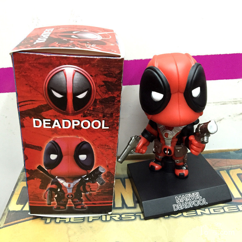Funko <font><b>Pop</b></font> X-men <font><b>Deadpool</b></font> <font><b>Figure</b></font> <font><b>Toy</b></font> <font><b>Wacky</b></font> <font><b>Wobbler</b></font> <font><b>Bobble</b></font> Head Doll Figurines 13.5 cm With Base