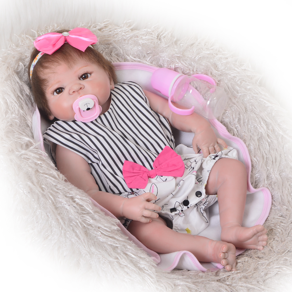 New Design 23 Inch Reborn Baby Doll 57 cm Realistic Boneca Reborn Red Skin Doll Baby Toy For Girls Kid Xmas Gift Early Education new wooden montessori family version brown stair width 0 7 cm to 7 cm early childhood education preschool training baby gifts