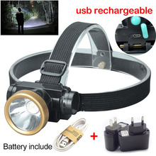 high powerful LED Headlamp Headlight frontal Head Torch Light Flashlight lampe frontale USB Rechargeable for Fishing Camping