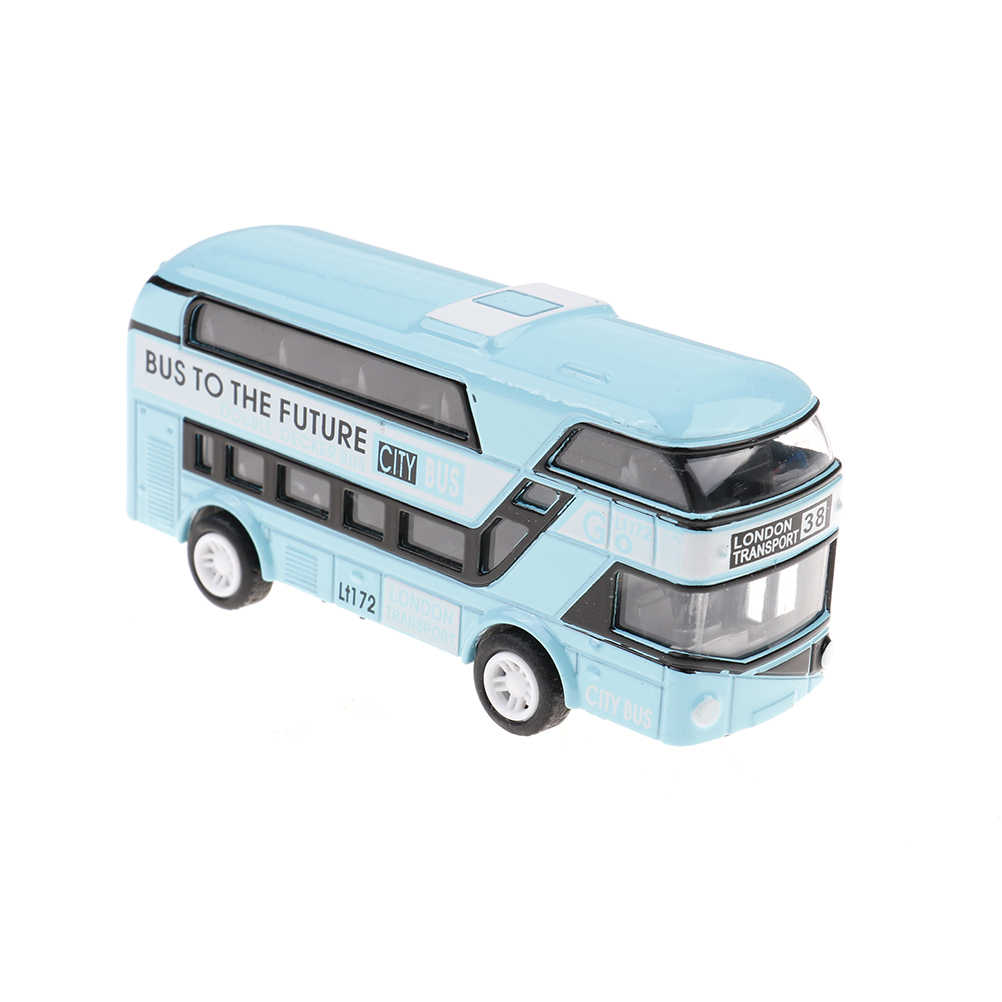 Kids Toy Car Model Double-decker London Bus Alloy Diecast Vehicle Gifts Toys for Boys Gift Decoration