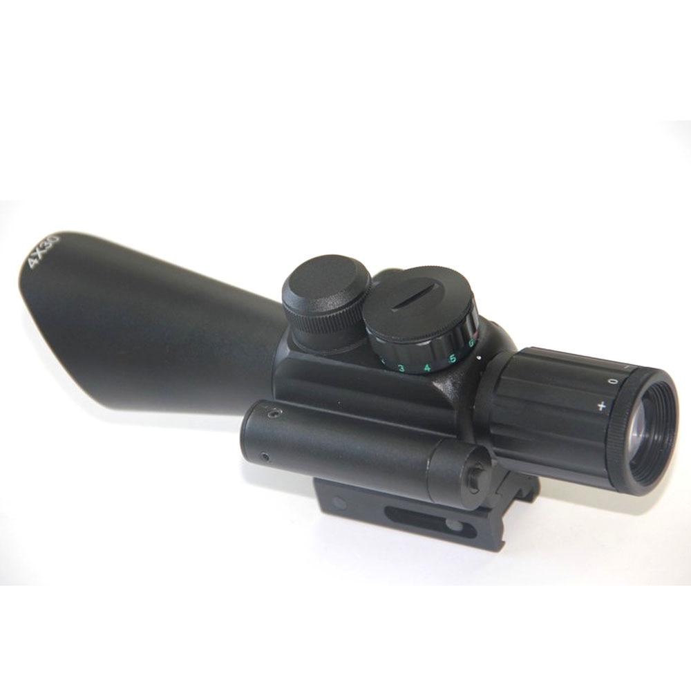 ФОТО Hunting Tactical M7 4X30 Rifle Scope Red And Green Dot Illumination Reticle Crosshair Optic Sight Scope Rifle