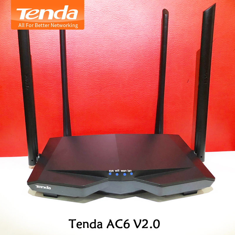 Tenda AC6 V2 Dual Band 1200Mbps Wifi Router WI-FI Repeater Wireless WIFI Router 11AC 2.4G/5.0G English Firmware free shipping