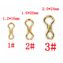 [500pcs] Brass Sinker Eyes / Splay Ring Carp Fishing Accessory Hair Rig Lead Weight Lock Size 1# 2# 3#