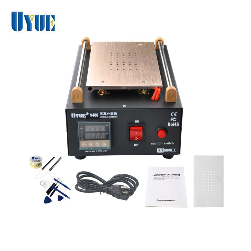 UYUE 948Q Built-in Pump Vacuum LCD Screen Separator Machine with 100M Cutting Wire and 8 in 1 Open Tools 100m 0 08mm alloy steel molybdenum wire cutting wire line lcd display screen separator repair for iphone p0 11