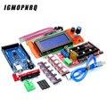 Контроллер Mega 2560 R3 CH340 + 1 контроллер RAMPS 1,4 + 5 шт. модуль шагового драйвера A4988/DRV8825 + 1 шт. контроллер 2004 для набора 3D-принтера