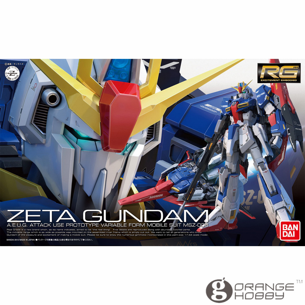 OHS Bandai RG 10 1/144 MSZ-006 Zeta Gundam Mobile Suit Assembly Model Kits oh bandai bandai gundam model sd q version bb 309 sangokuden wu yong bian xiahou yuan battle