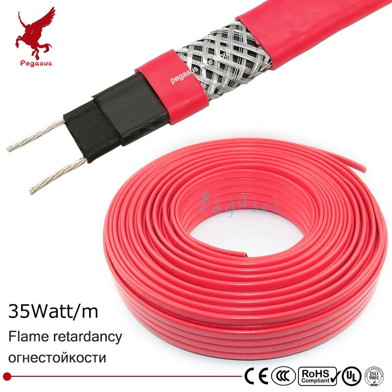 Фотография 1-100m 220v 14mm flame retardancy self limiting temperature heating cable heating belt water pipe antifreezing roof antifreezing
