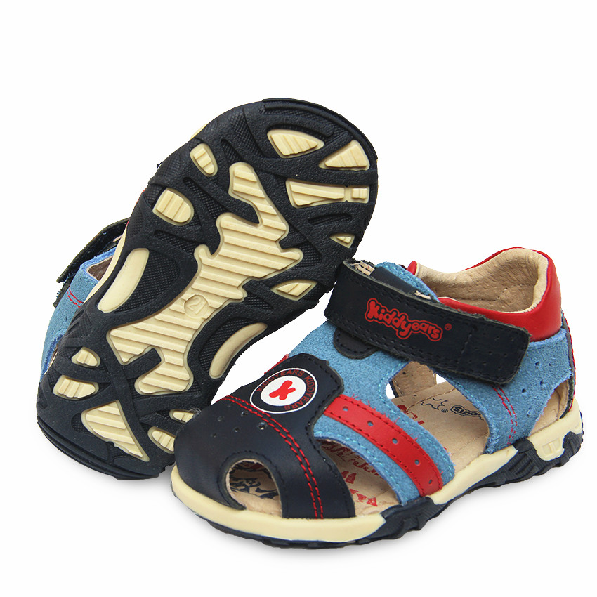 Super Quality 1pair Genuine Leather Orthopedic arch support Boy Children Sandals Summer Shoes ...