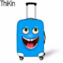 THIKIN Luggage Cover 3d Funny Face Smiley Emoji Dust-proof Travel Bags Case Thick Protective Covers for Suitcases