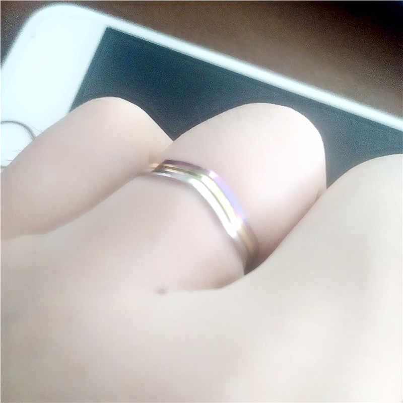 2018 New fashion simple and elegant Three rings gold silver colors on the ring tail rings pinky joint wholesale jewelry