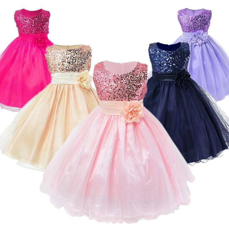 b49a5c0bb110 Cheap Vestidos para NIÑOS 2 10 años niñas vestido de fiesta de boda princesa  vestidos de