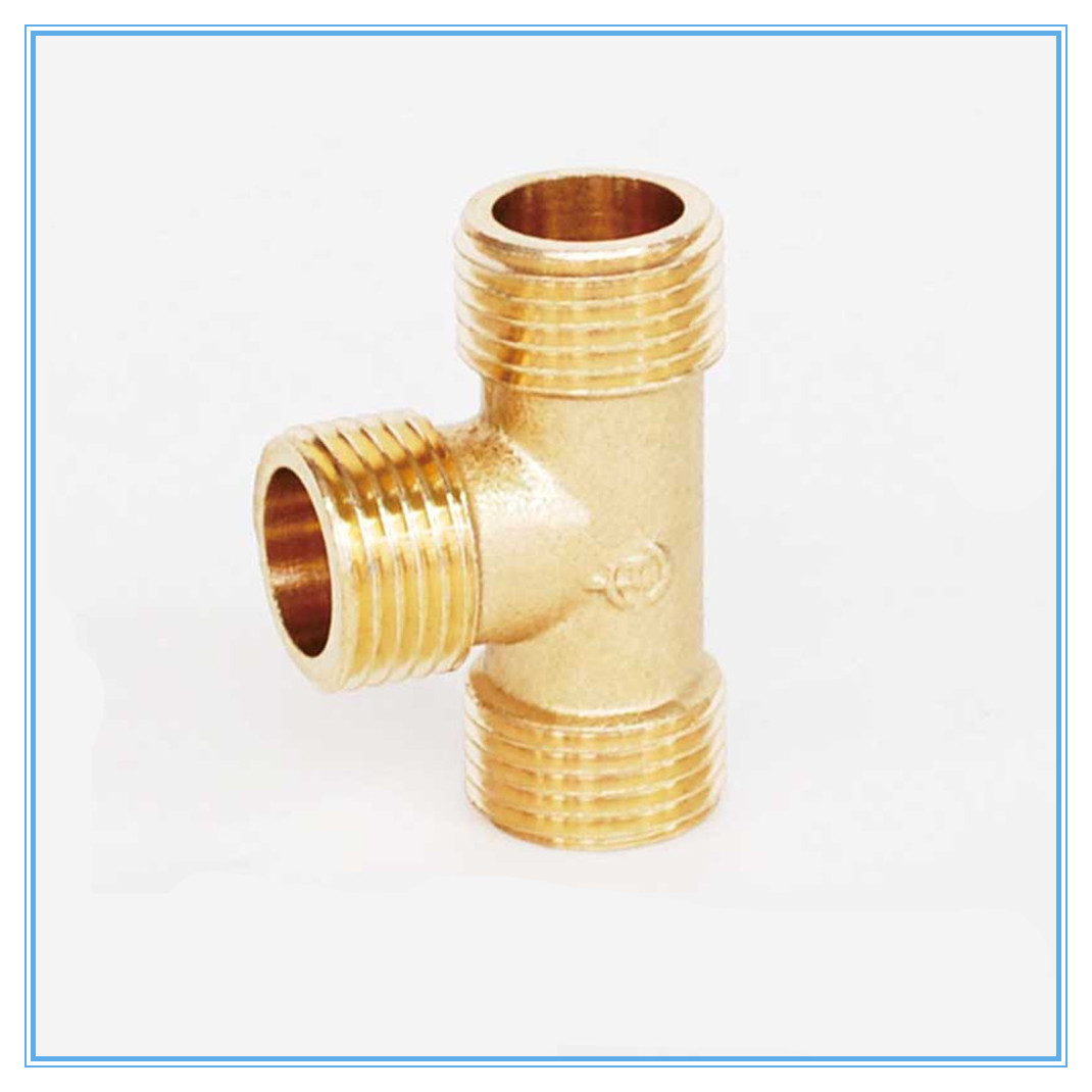 """1/8"""" 1/4"""" 3/8"""" 1/2"""" BSP Male Thread Tee Type 3 Way Brass Pipe Fitting Adapter Coupler Connector For Water"""