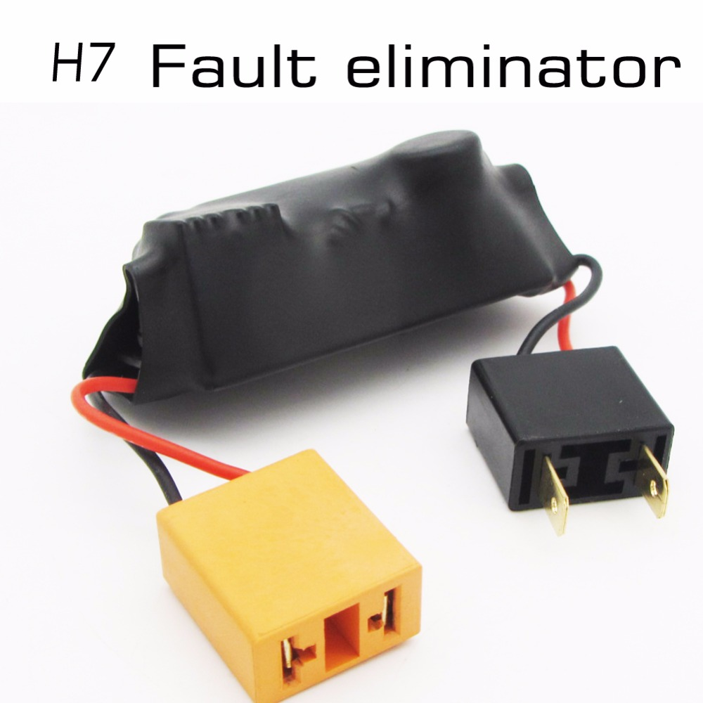 2pcs H7 Led Light Canbus Wiring Harness Adapter Headlamps Headlamp Warning Canceller Automotive Fault Eliminator In Car Headlight Bulbs From
