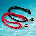 Lucky cuerda cadena de la última moda 925 sterling silver charm bracelet para mujeres, pequeñas joyas y colgantes campana colgante