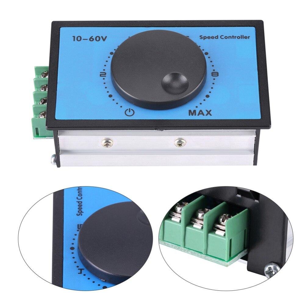 20A 10-60V PWM DC Motor Speed Controller Regulating Current Regulator Switch Module 12V 24V 36V 48V 20a universal dc10 60v pwm hho rc motor speed regulator controller switch l057 new hot