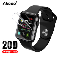 2 Pieces 20D Screen Protector for Apple watch Series 4 film with full glue easy paste iwatch 38 40 42 44mm screen protector