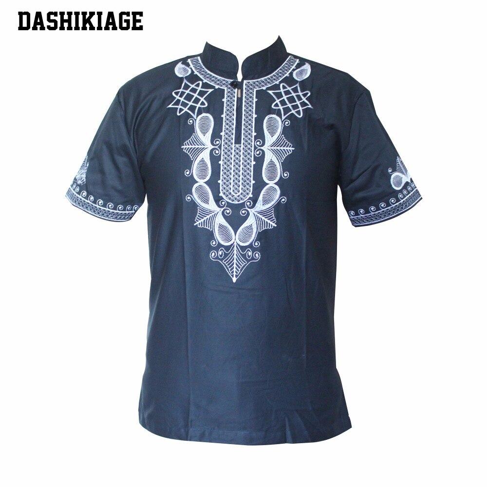 Dashikiage Dashiki homme chemise africaine Haute Tribal chemisier brodé Ankara T-shirt